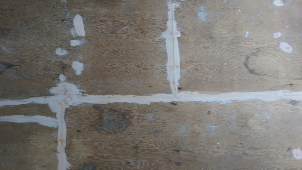 Wood Filler Plywood ~ Staining plywood subfloors suburban fervor
