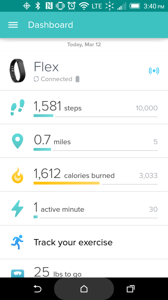 Using FitBit to get a hold of my lifestyle.